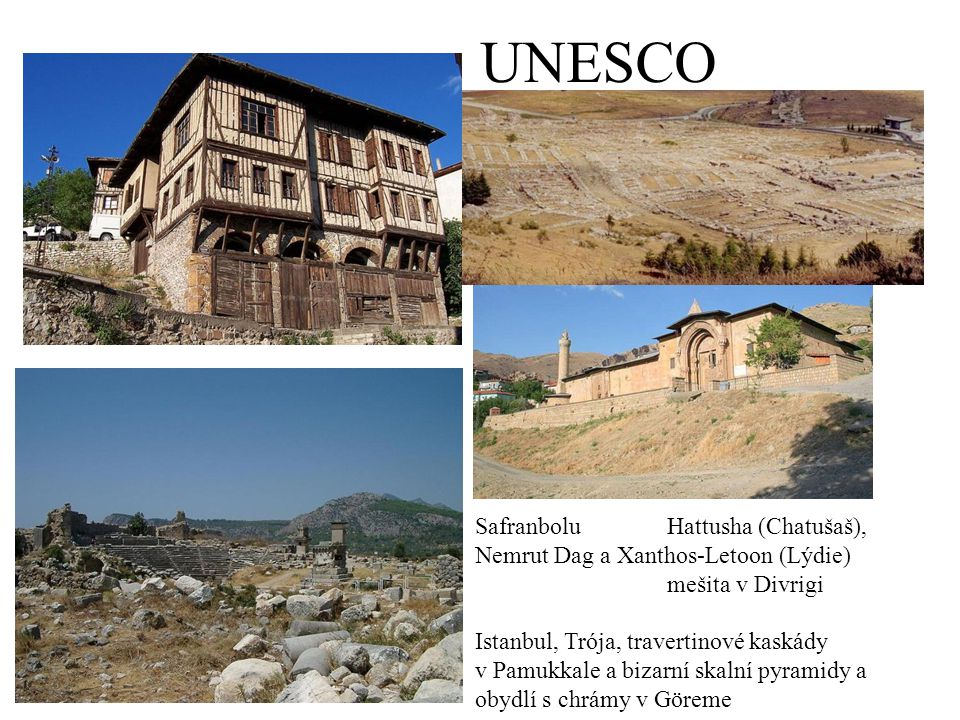 UNESCO Safranbolu Hattusha (Chatušaš),