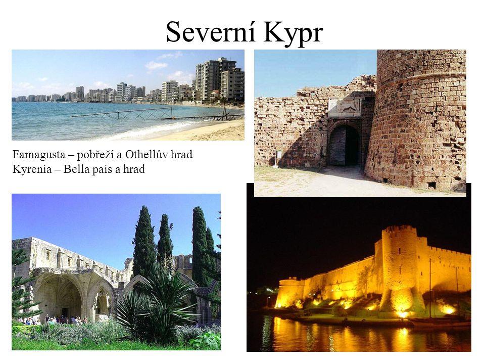 Severní Kypr Famagusta – pobřeží a Othellův hrad