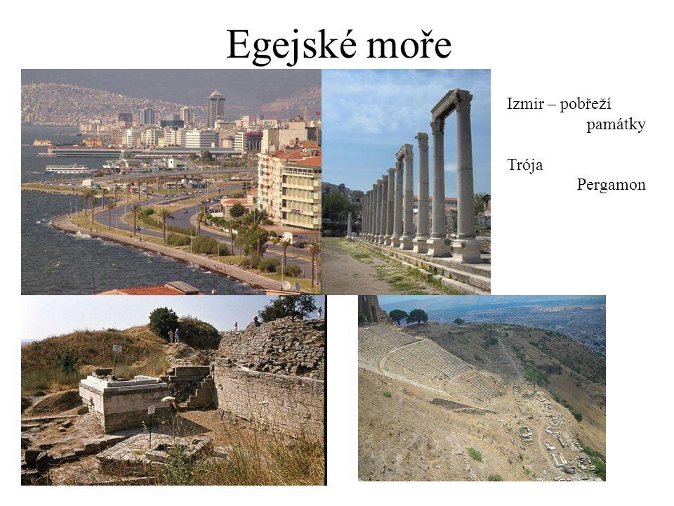 Egejské moře Izmir – pobřeží památky Trója Pergamon