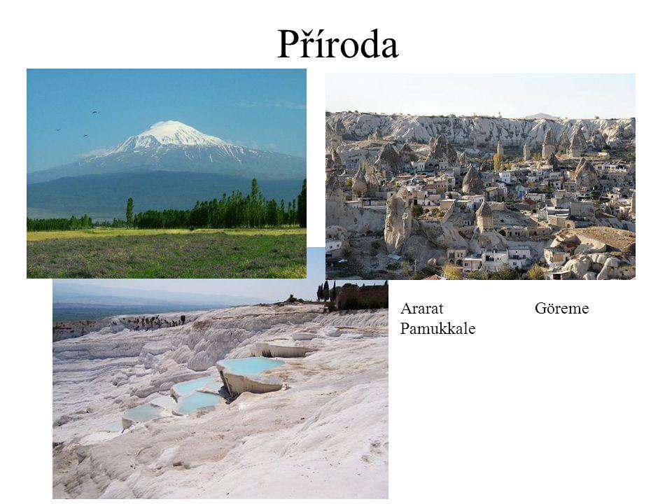 Příroda Ararat Göreme Pamukkale