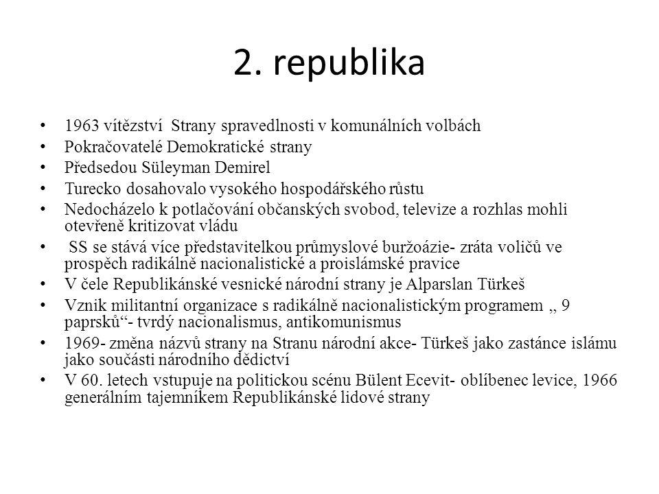 2. republika 1963 vítězství Strany spravedlnosti v komunálních volbách