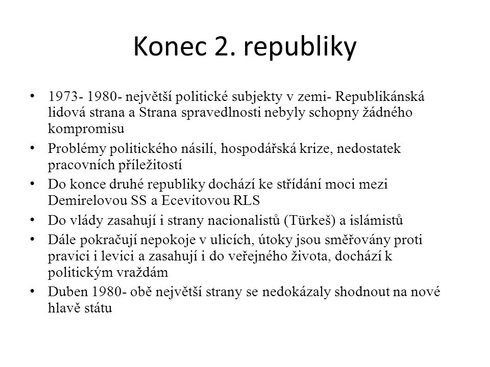 Konec 2. republiky