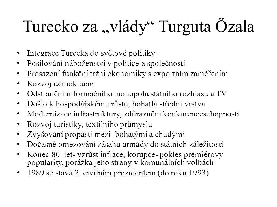 "Turecko za ""vlády Turguta Özala"
