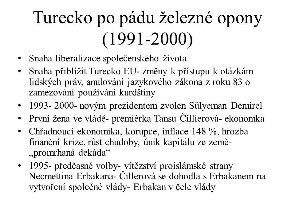 Turecko po pádu železné opony (1991-2000)