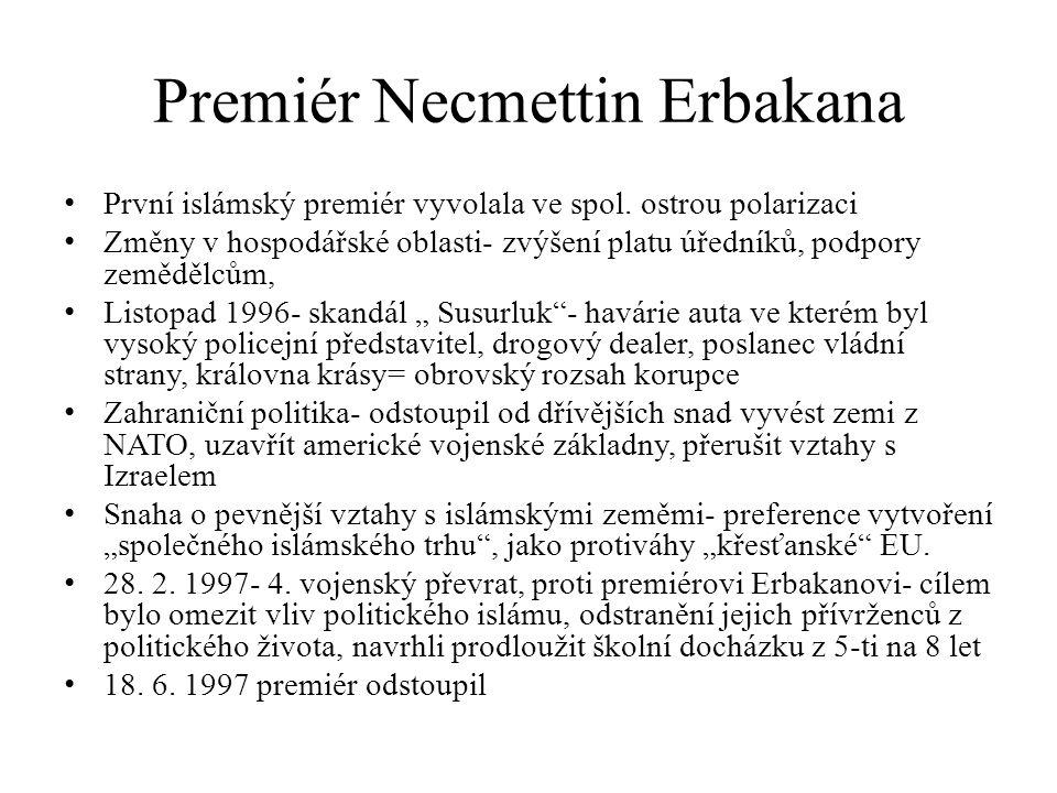 Premiér Necmettin Erbakana