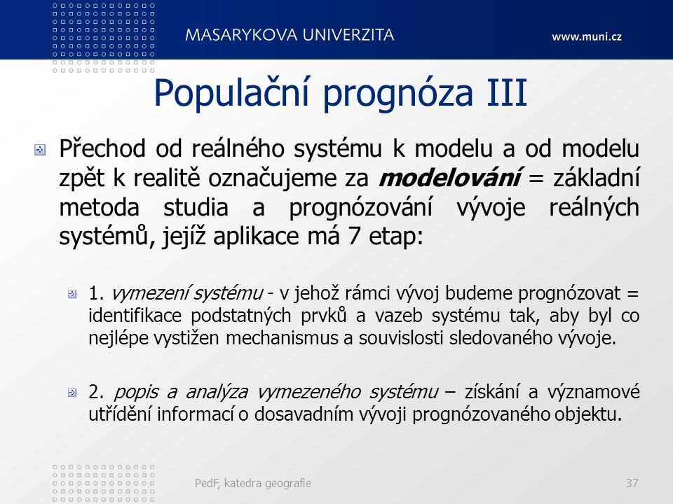 Populační prognóza III