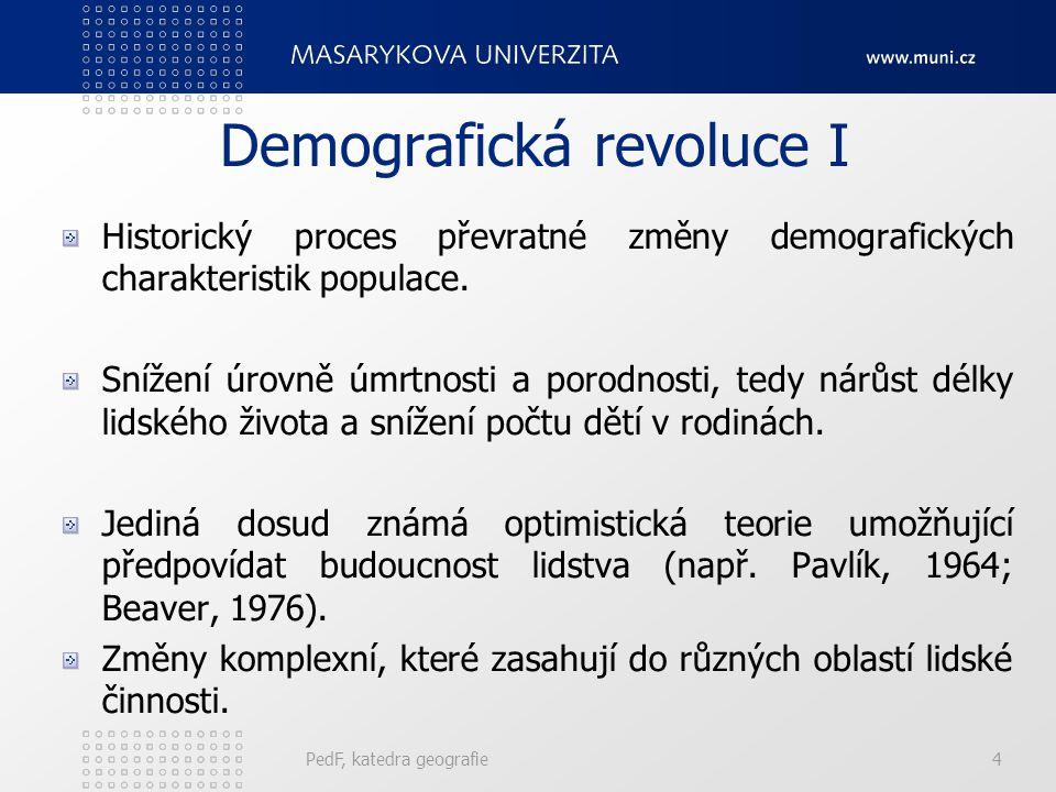 Demografická revoluce I
