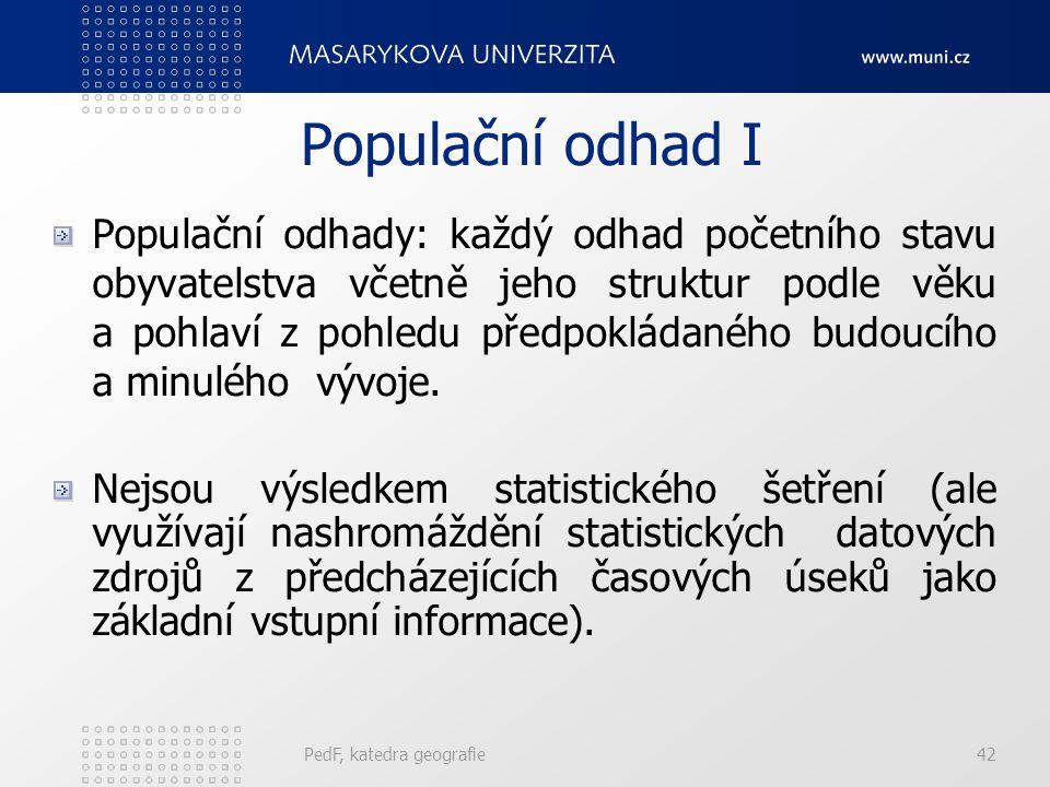 Populační odhad I