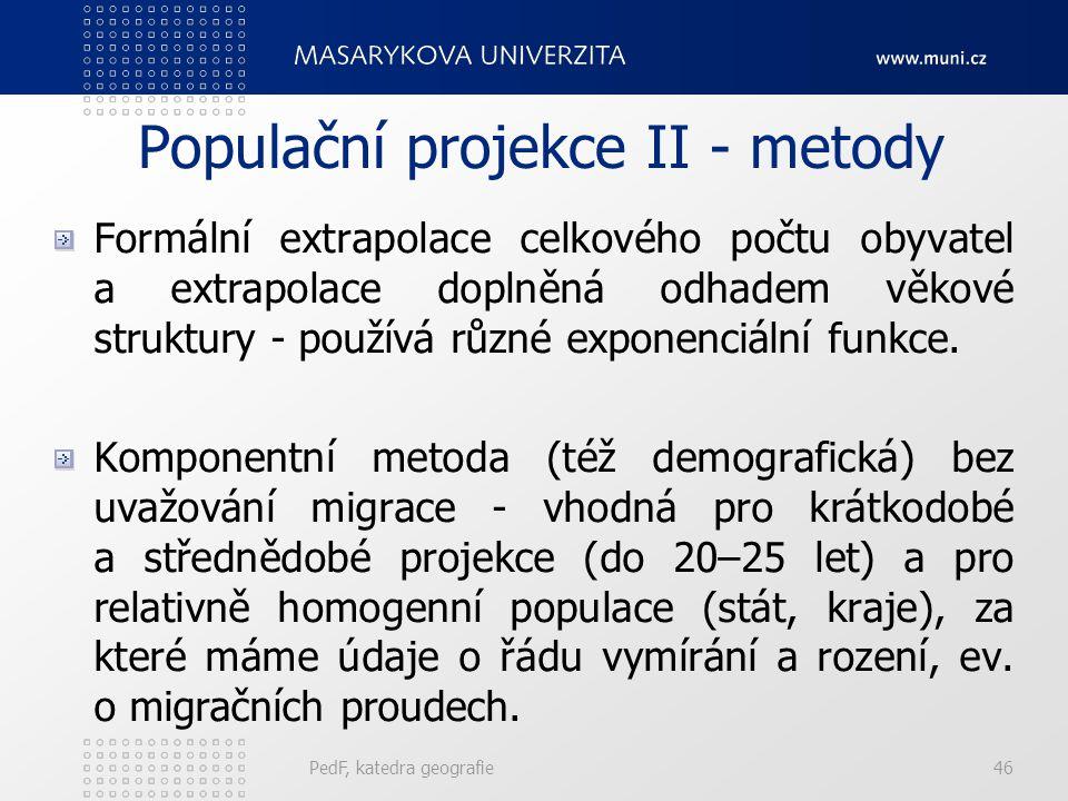 Populační projekce II - metody