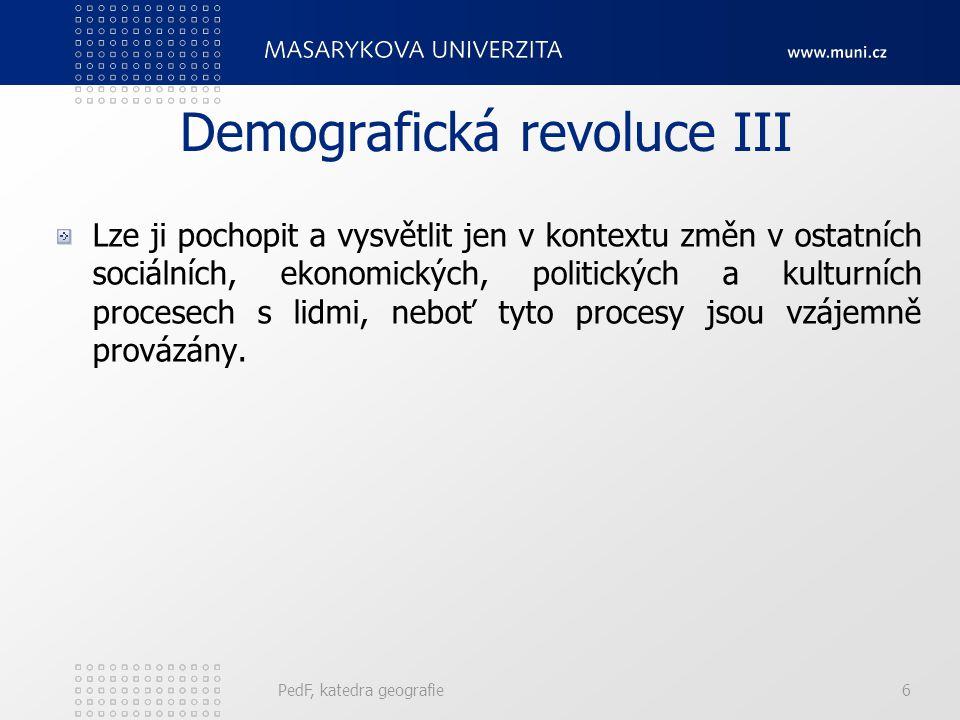 Demografická revoluce III