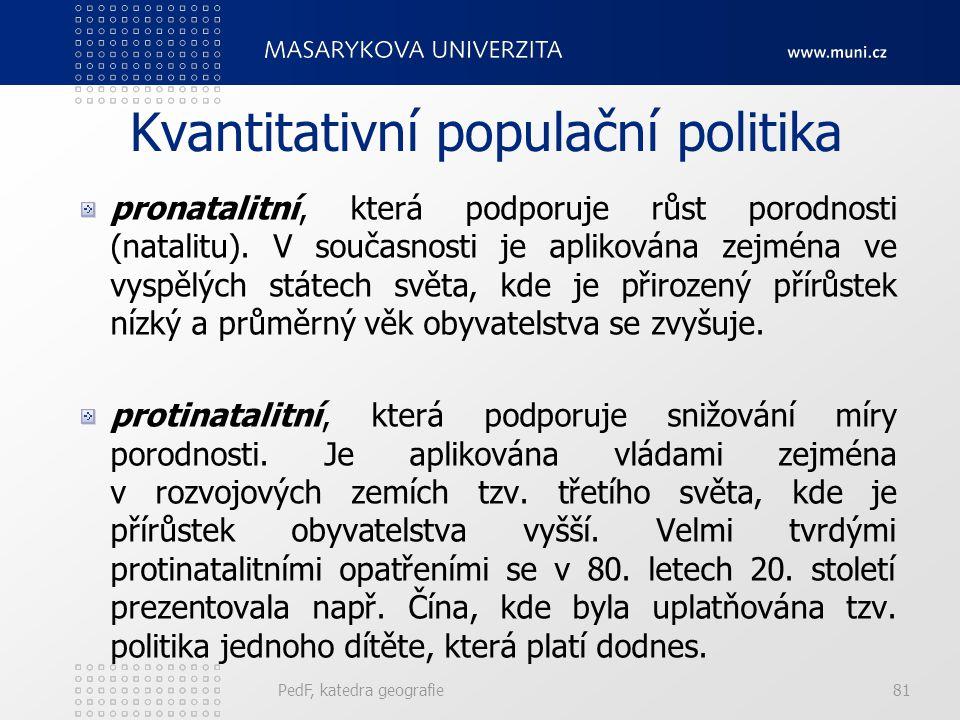 Kvantitativní populační politika