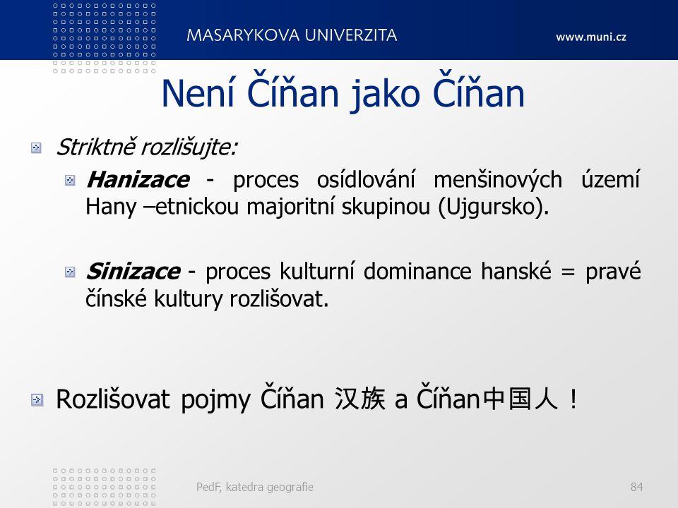Není Číňan jako Číňan Rozlišovat pojmy Číňan 汉族 a Číňan中国人 !