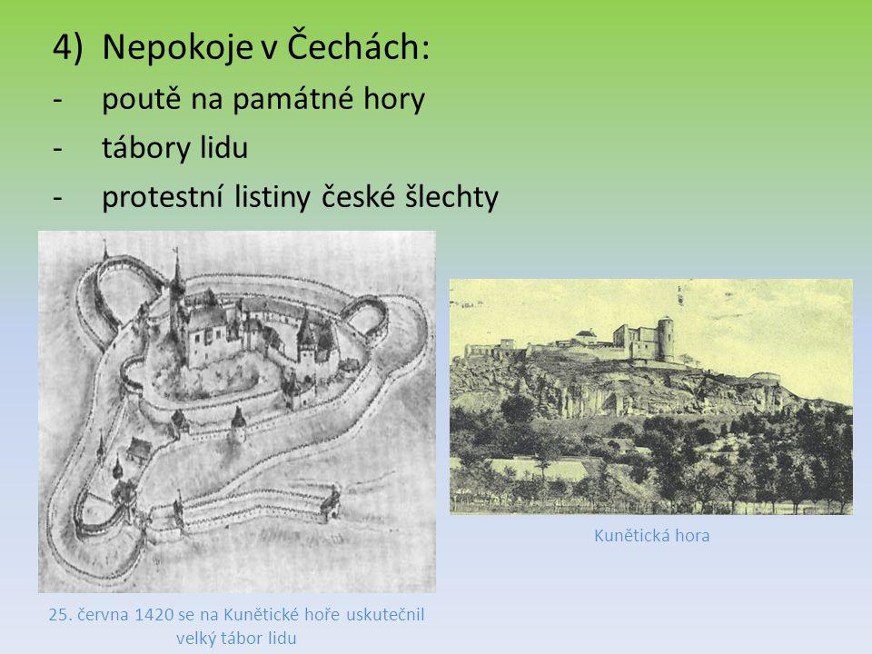 25. června 1420 se na Kunětické hoře uskutečnil velký tábor lidu