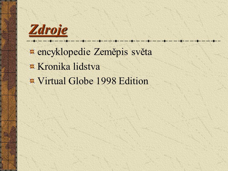 Zdroje encyklopedie Zeměpis světa Kronika lidstva