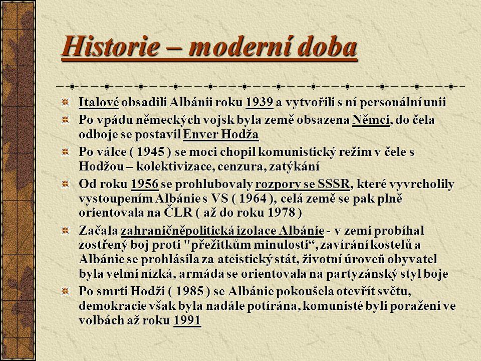 Historie – moderní doba