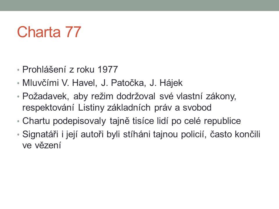 Charta 77 Prohlášení z roku 1977