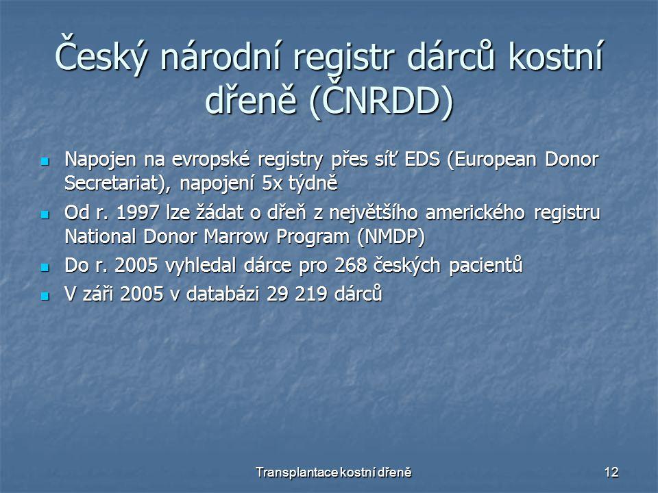 Český národní registr dárců kostní dřeně (ČNRDD)