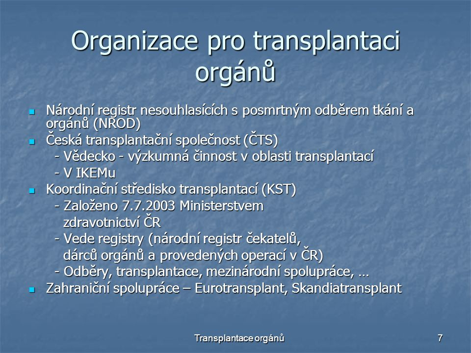Organizace pro transplantaci orgánů