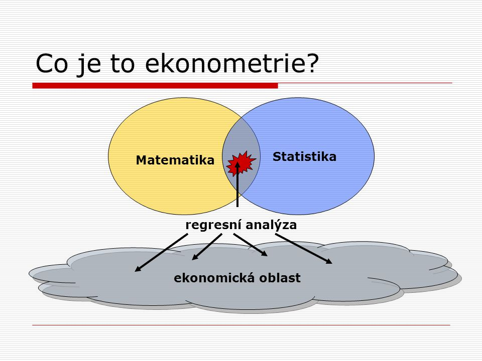 Co je to ekonometrie Statistika Matematika regresní analýza