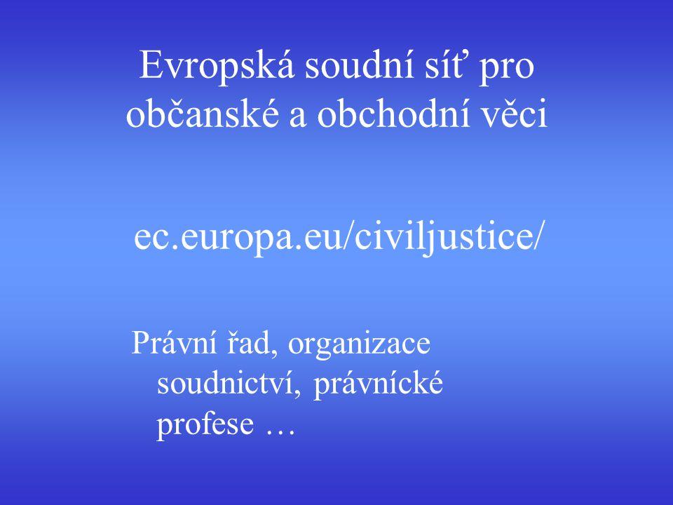 Evropská soudní síť pro občanské a obchodní věci