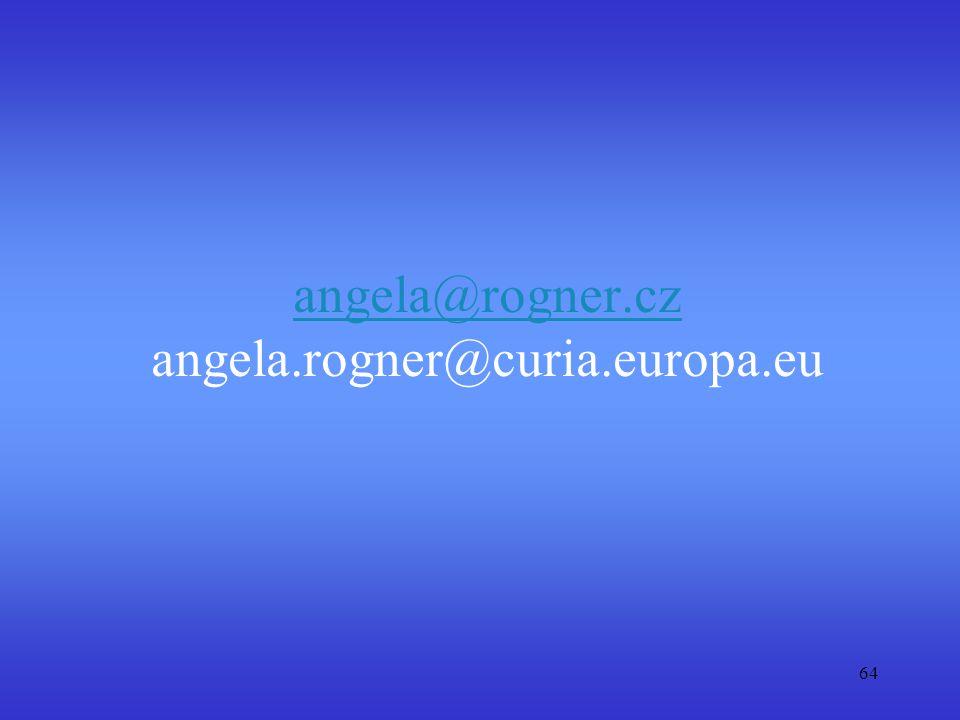 angela@rogner.cz angela.rogner@curia.europa.eu