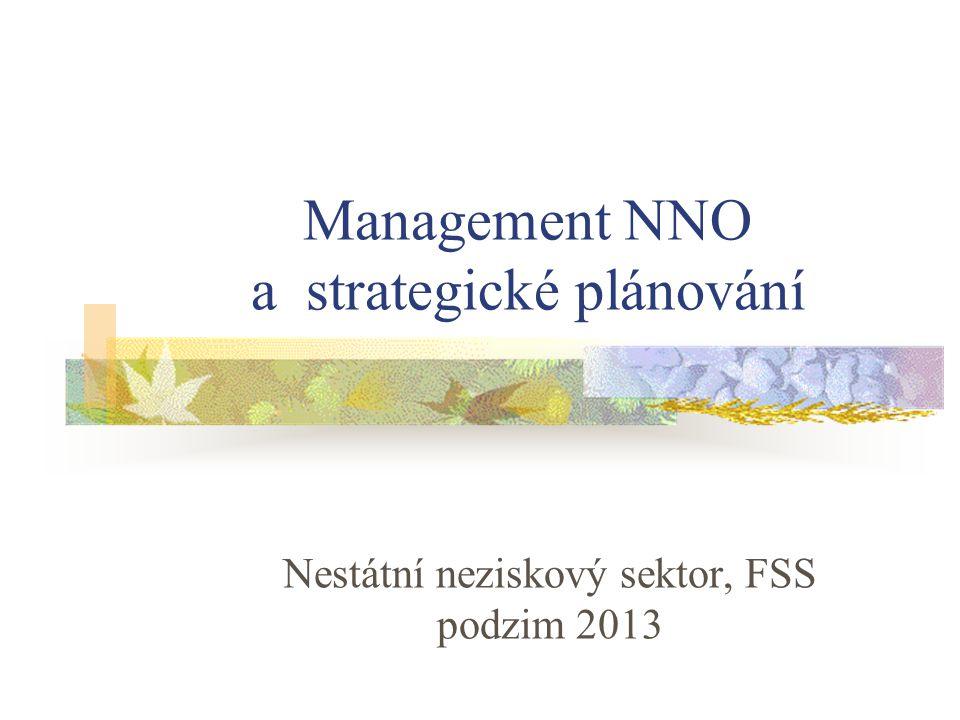 Management NNO a strategické plánování