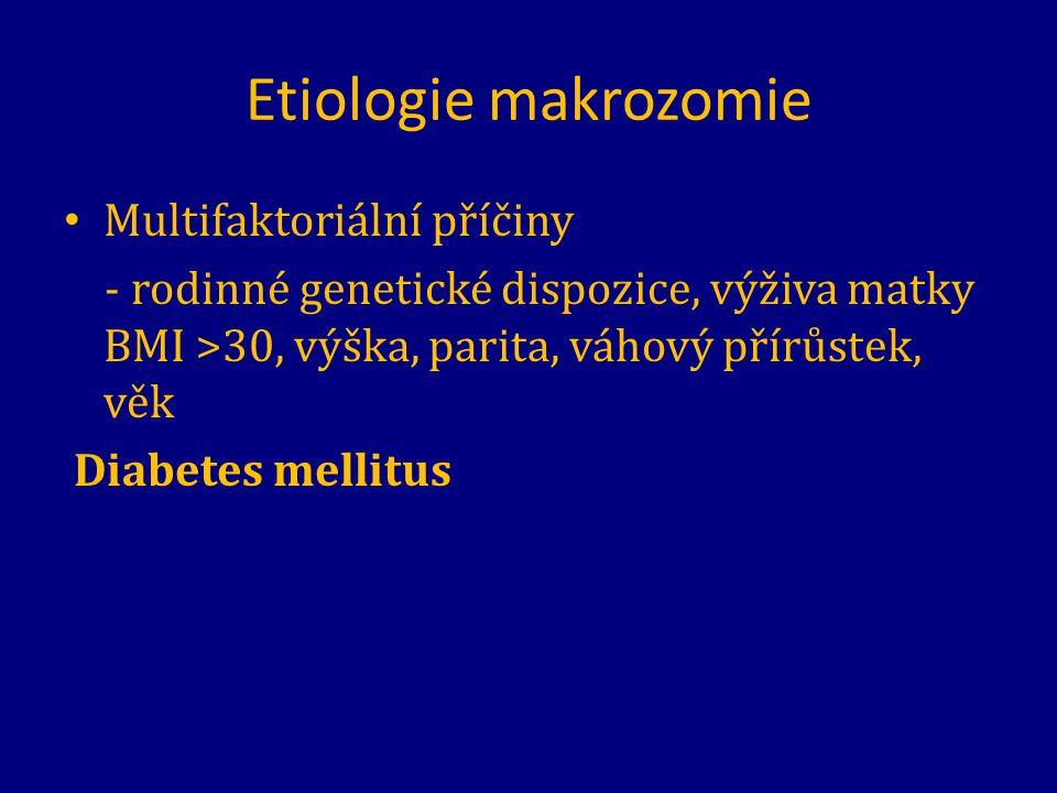 Etiologie makrozomie Multifaktoriální příčiny