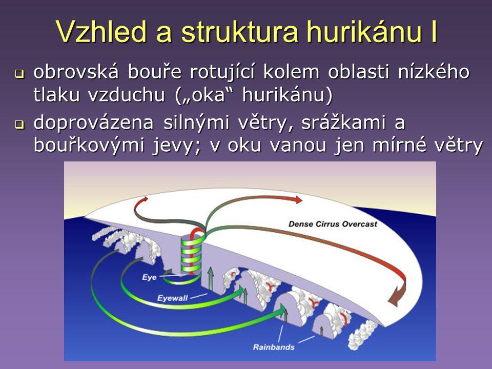 Vzhled a struktura hurikánu I