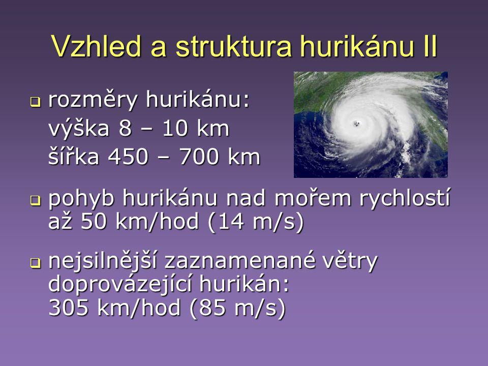 Vzhled a struktura hurikánu II