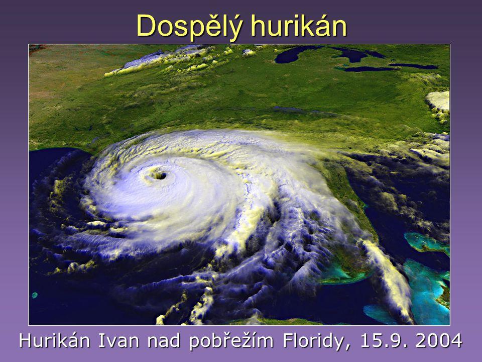 Dospělý hurikán Hurikán Ivan nad pobřežím Floridy, 15.9. 2004