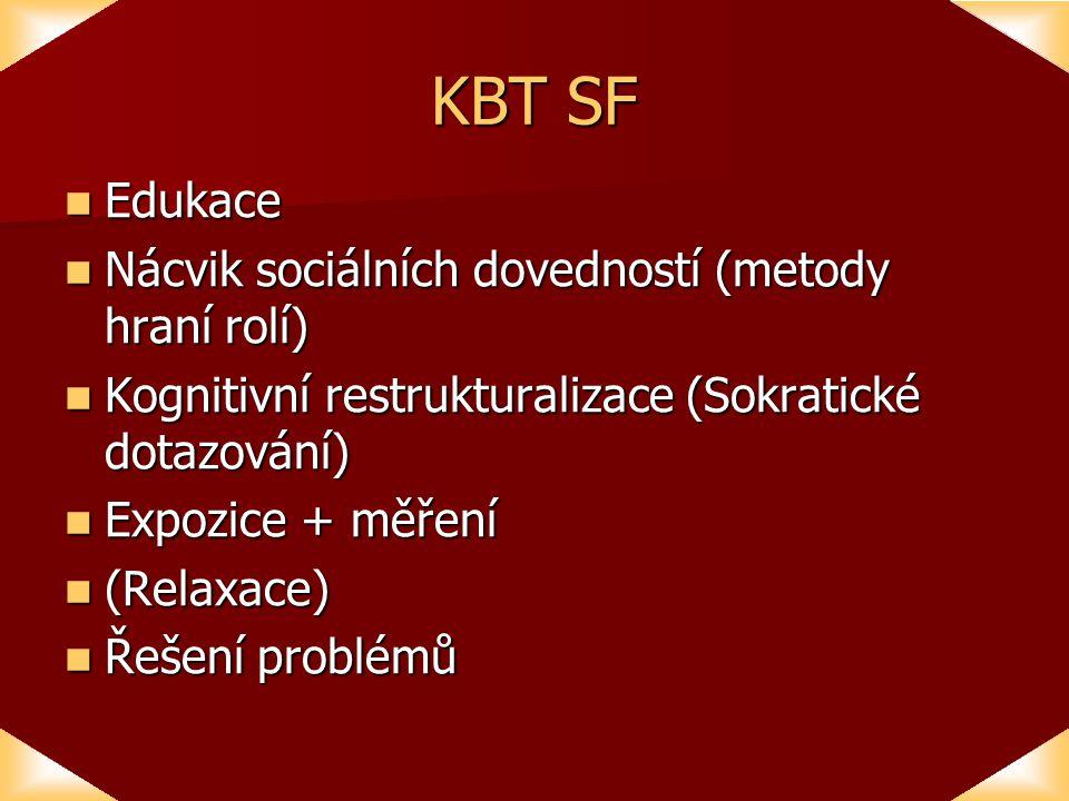 KBT SF Edukace Nácvik sociálních dovedností (metody hraní rolí)