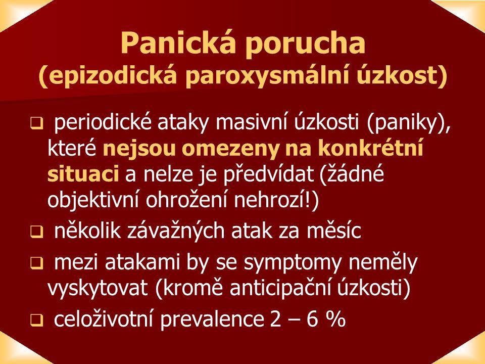 Panická porucha (epizodická paroxysmální úzkost)