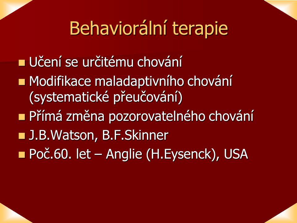 Behaviorální terapie Učení se určitému chování