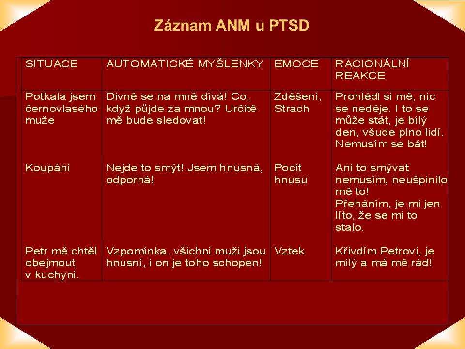 Záznam ANM u PTSD