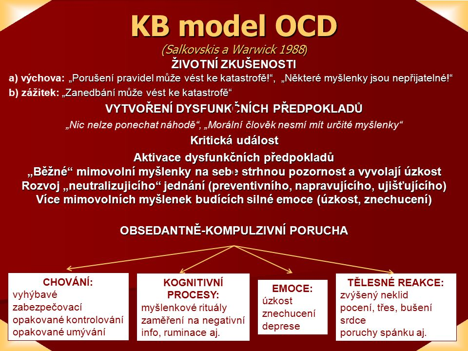 KB model OCD (Salkovskis a Warwick 1988)