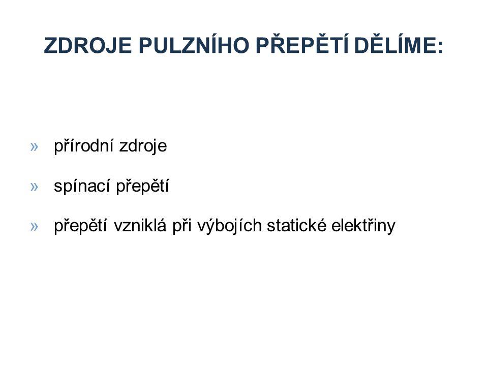 Zdroje pulzního přepětí dělíme: