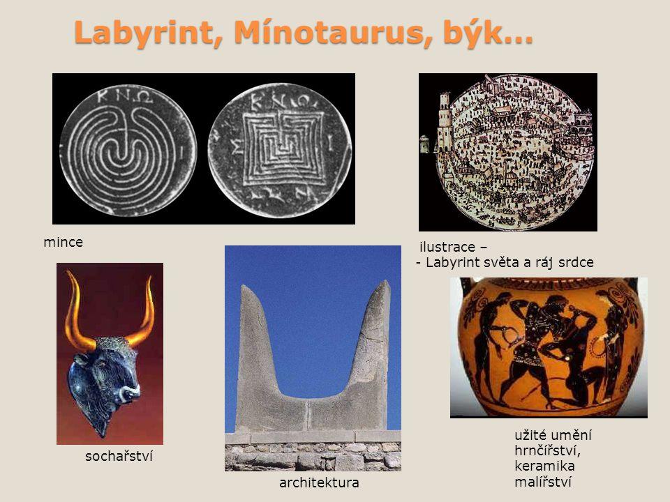 Labyrint, Mínotaurus, býk…