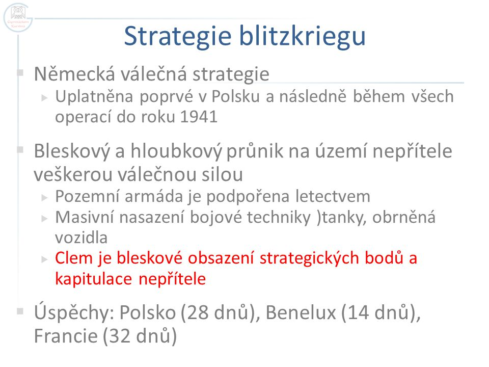 Strategie blitzkriegu