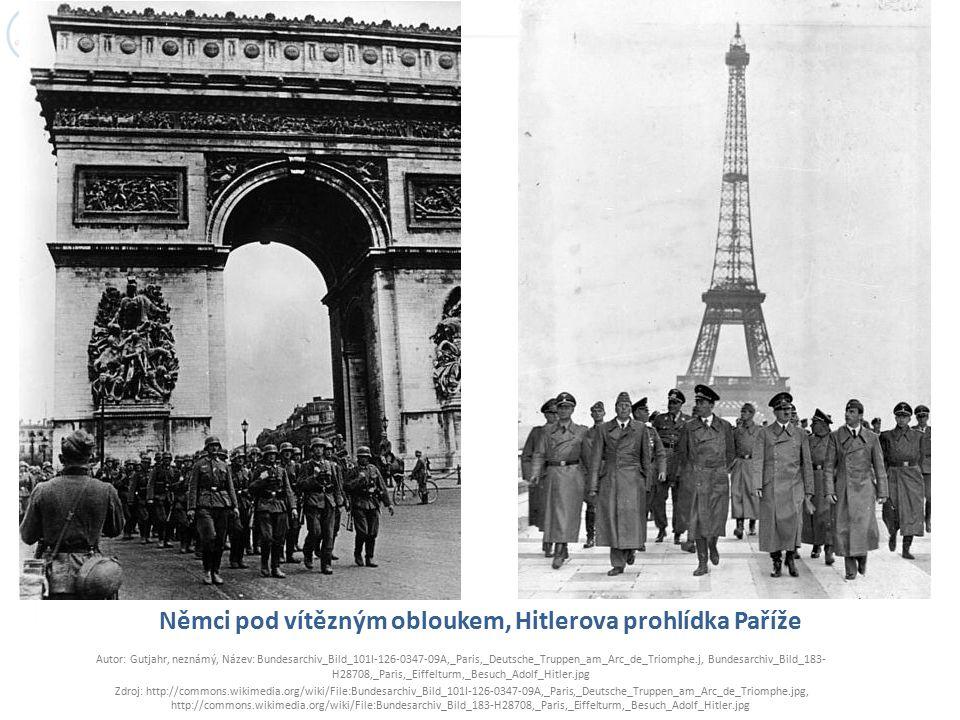 Němci pod vítězným obloukem, Hitlerova prohlídka Paříže