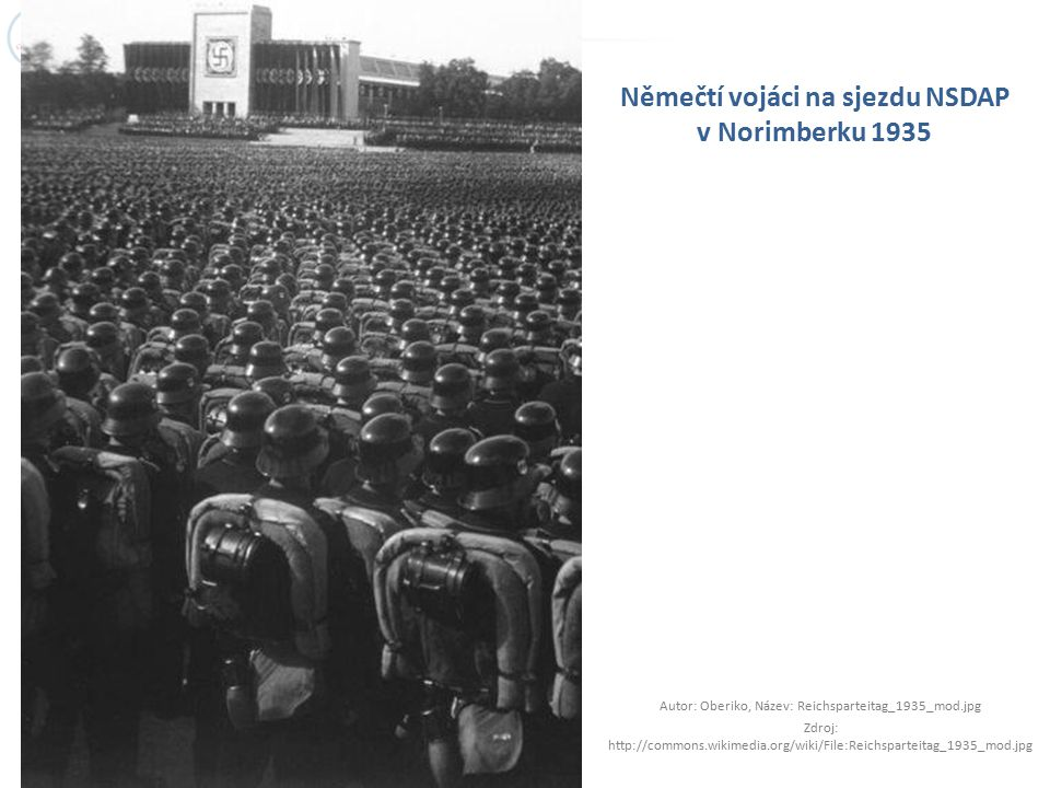 Němečtí vojáci na sjezdu NSDAP v Norimberku 1935