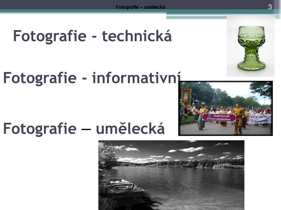 Fotografie - technická