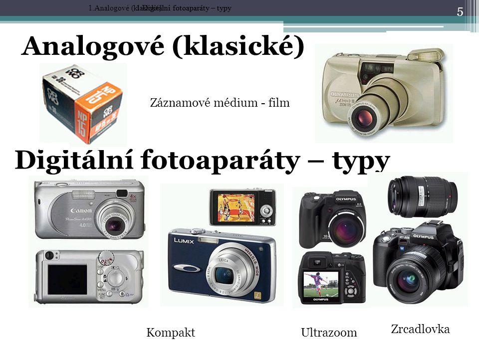 Digitální fotoaparáty – typy