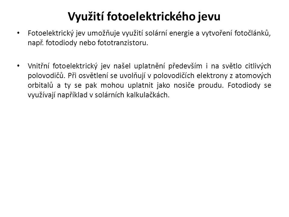 Využití fotoelektrického jevu