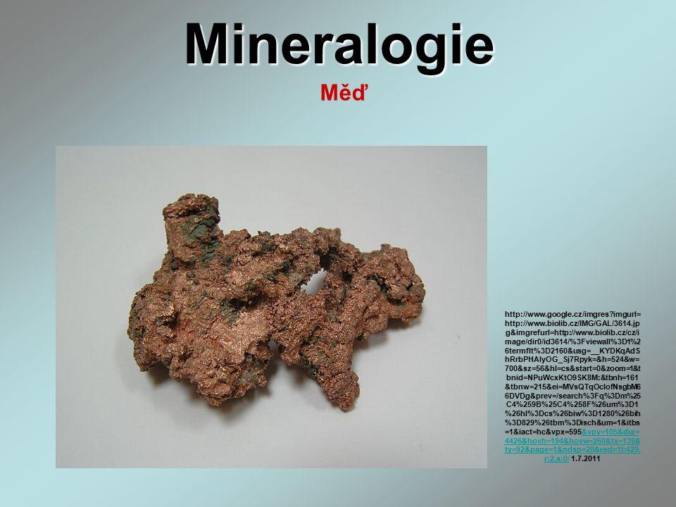 Mineralogie Měď.
