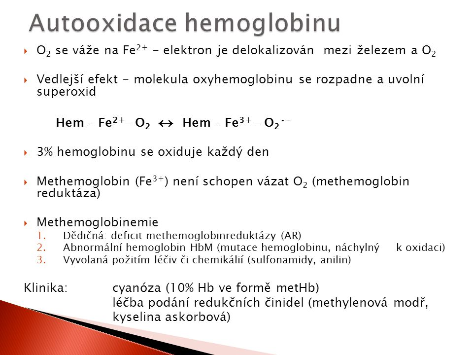 Autooxidace hemoglobinu