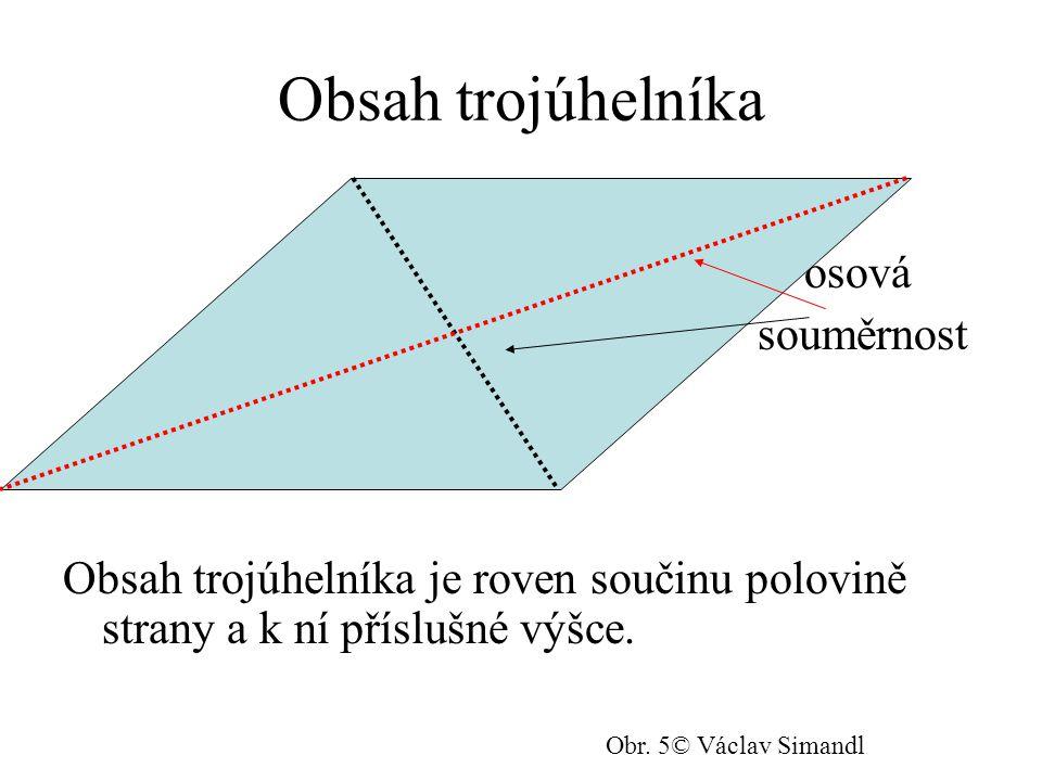 Obsah trojúhelníka osová souměrnost