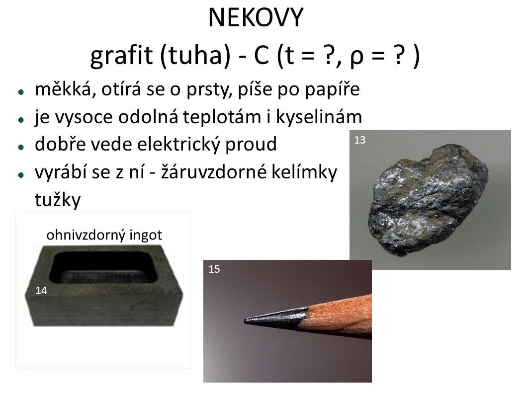 NEKOVY grafit (tuha) - C (t = , ρ = )