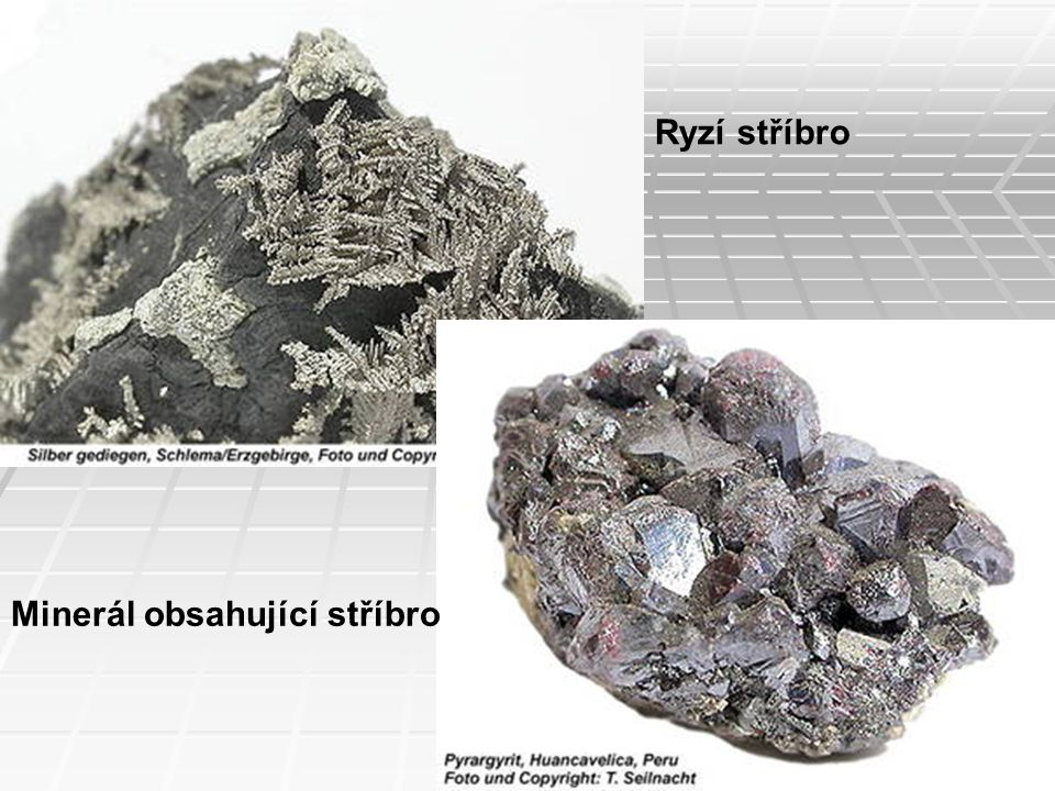 Ryzí stříbro Minerál obsahující stříbro