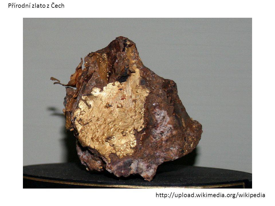Přírodní zlato z Čech http://upload.wikimedia.org/wikipedia