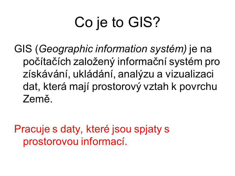 Co je to GIS